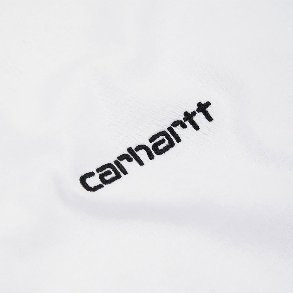 Carhartt T-Shirt Script Embroidery Black White