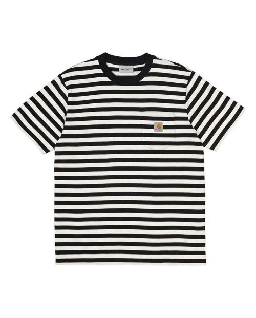 Carhartt T-shirt Scotty pocket Stripe-Black:White