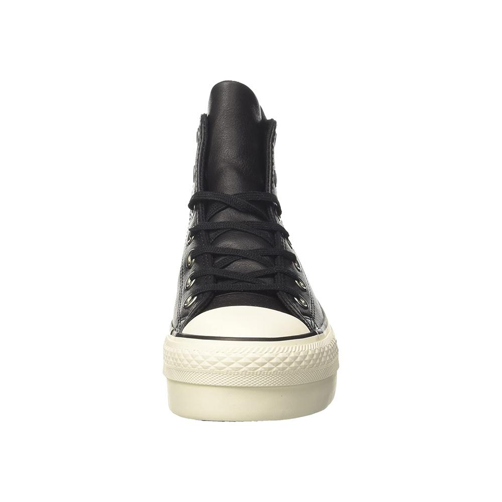 Converse Ctas Hi Platform Leather Black1