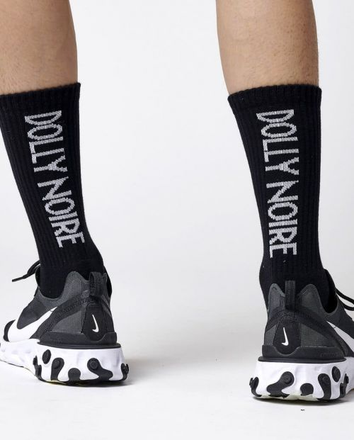 Dolly Noire Calze Vertical Logo Black Socks BLK 1