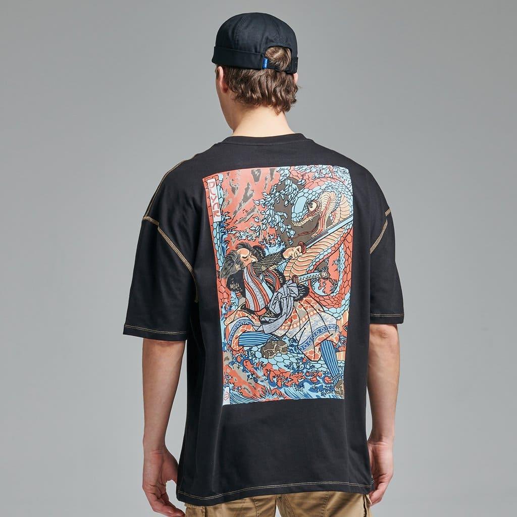 Dolly Noire T-Shirt Kuniyoshi Oversize - BLK