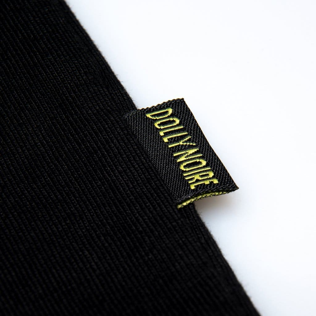 Dolly Noire T-Shirt Logo Stipe - BLK/GREY