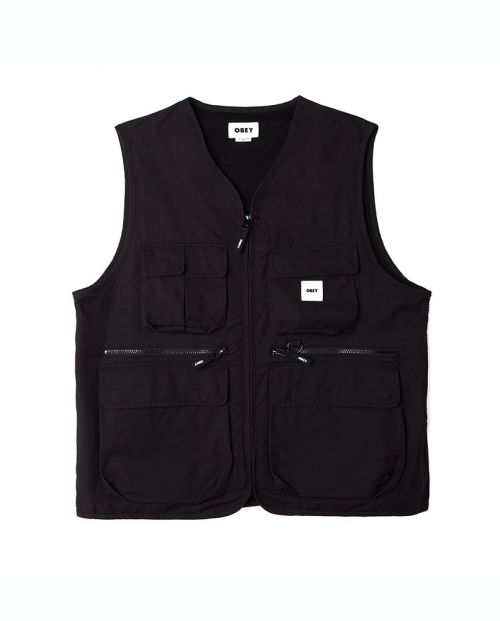 Gilet Obey Warfield Vest Black