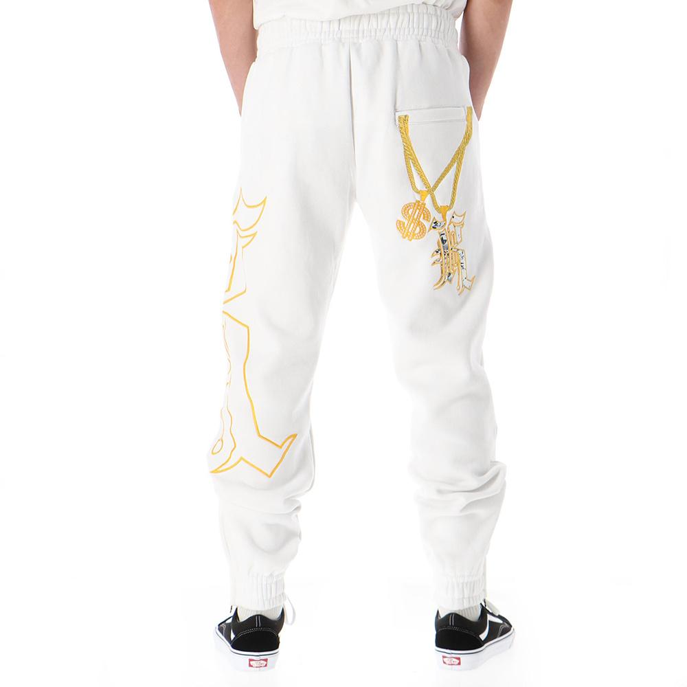 Kali King Pantaloni Tuta White BLING_2