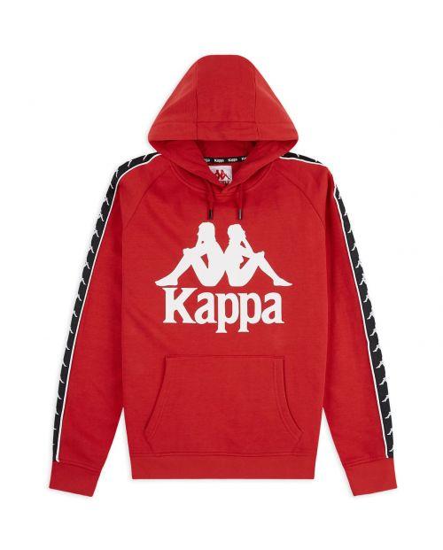 Felpa Kappa 222 Banda Hurtado - RED/BLK
