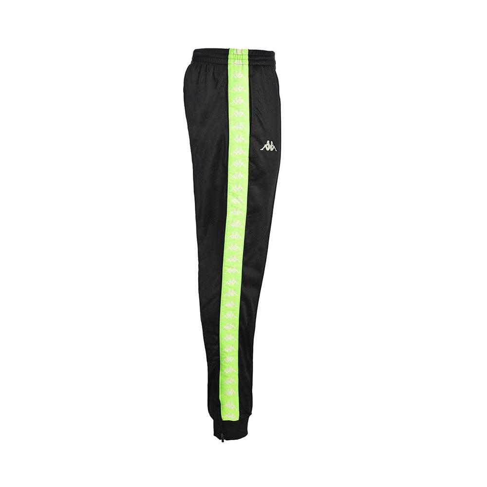 Kappa Pantalone 222 Banda Rastoria slim man, Black:Neon:Green