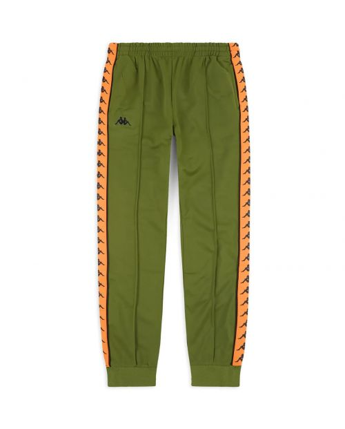 Kappa Pantaloni 222 Banda Rastoria Slim - GREEN/ORANGE