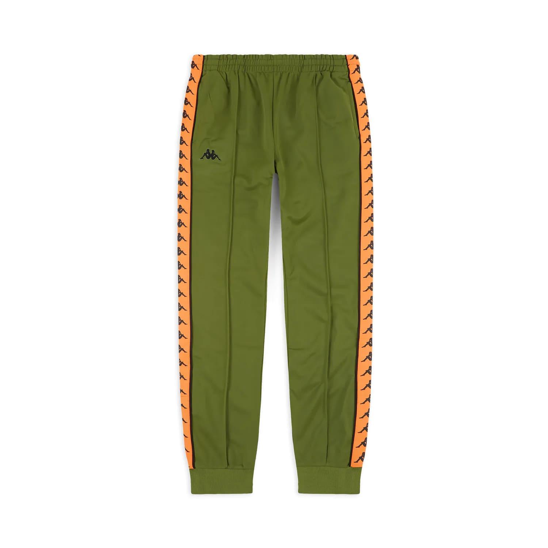 Pantaloni Kappa 222 Banda Rastoria Slim - GREEN/ORANGE