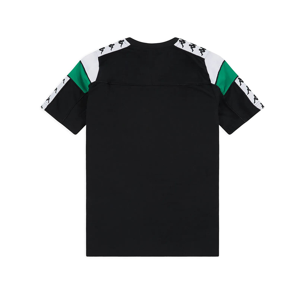 Kappa T-Shirt 222 Banda Arar Slim - BLK/WHT/GREEN