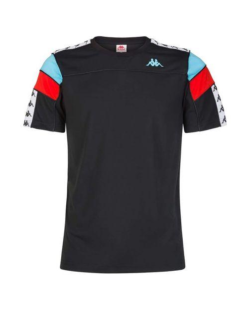 Kappa T-Shirt 222 Banda Arar Slim - BLK/WHT/TURQ/RED