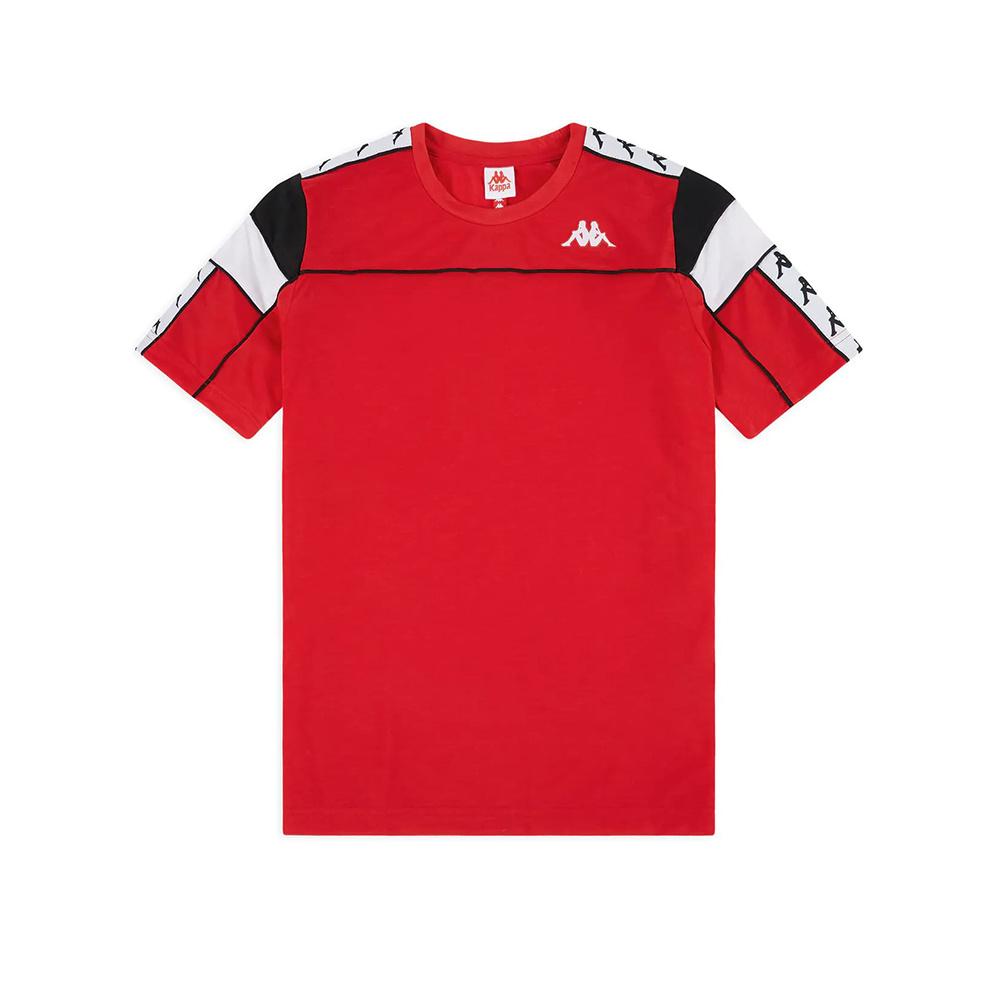 Kappa T-Shirt 222 Banda Arar Slim - RED/BLK/WHT
