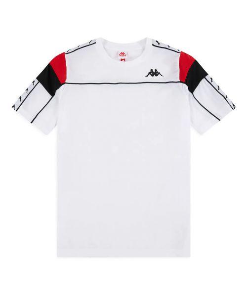 Kappa T-Shirt 222 Banda Arar Slim - WHT/RED/BLK