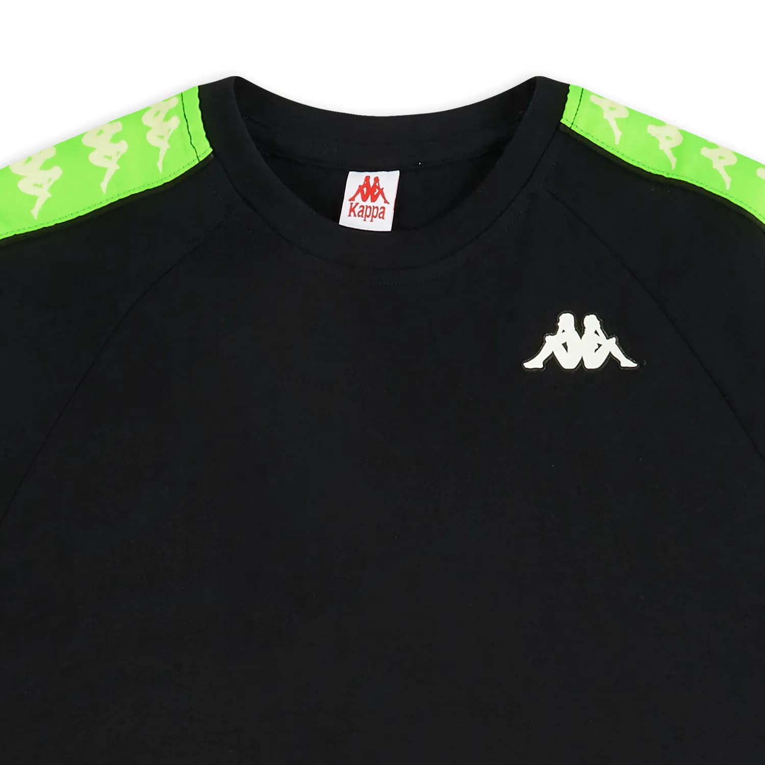 Kappa T-Shirt 222 Banda Coen Slim – BLACK:NEON:GREEN 1