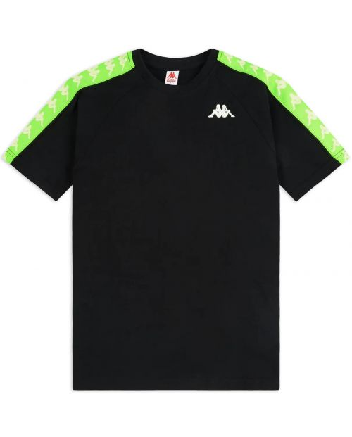 Kappa T-Shirt 222 Banda Coen Slim - BLK/NEON/GRN