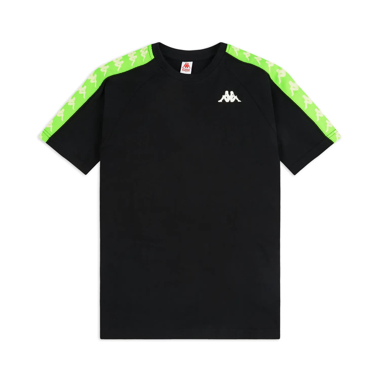 T-Shirt Kappa 222 Banda Coen Slim - BLK/NEON/GRN
