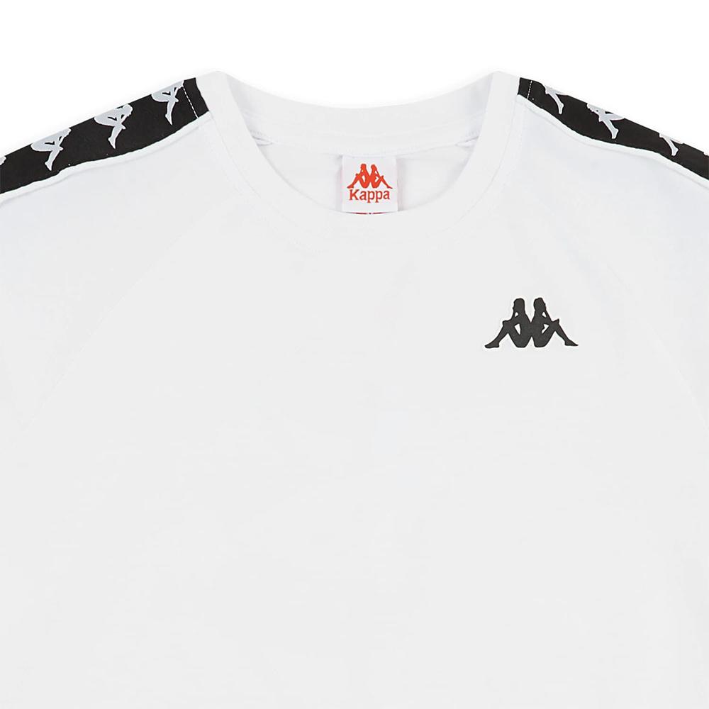Kappa T-Shirt 222 Banda Coen Slim - WHT/BLK
