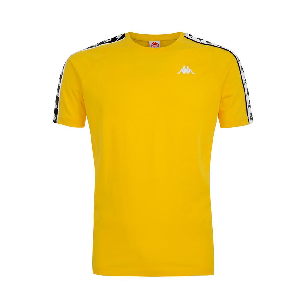 T-Shirt Kappa 222 Banda Coen Slim - YELLOW/BLK/WHT