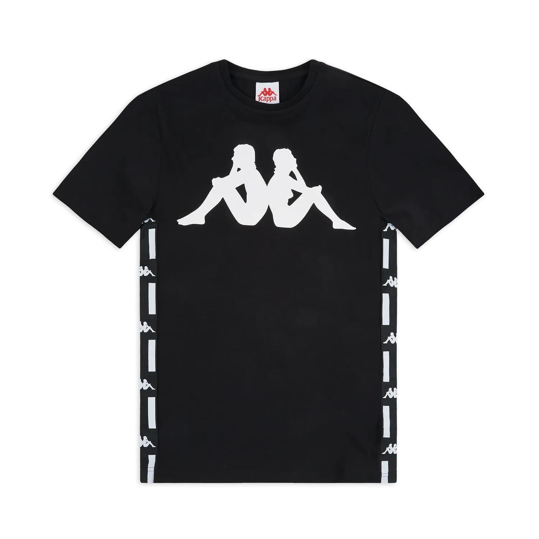 T-Shirt Kappa Authentic LA Barwa 2 - BLK/WHT