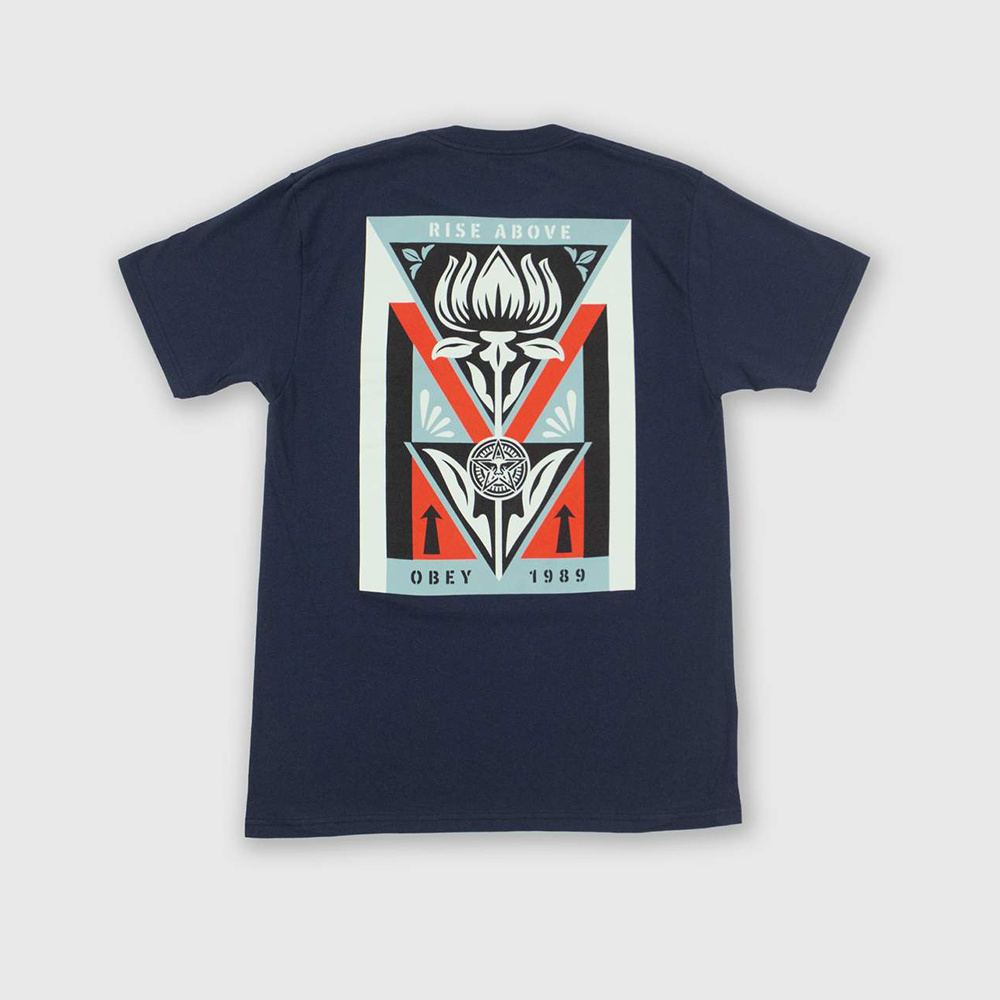 Obey T-Shirt Deco Flower -NAVY
