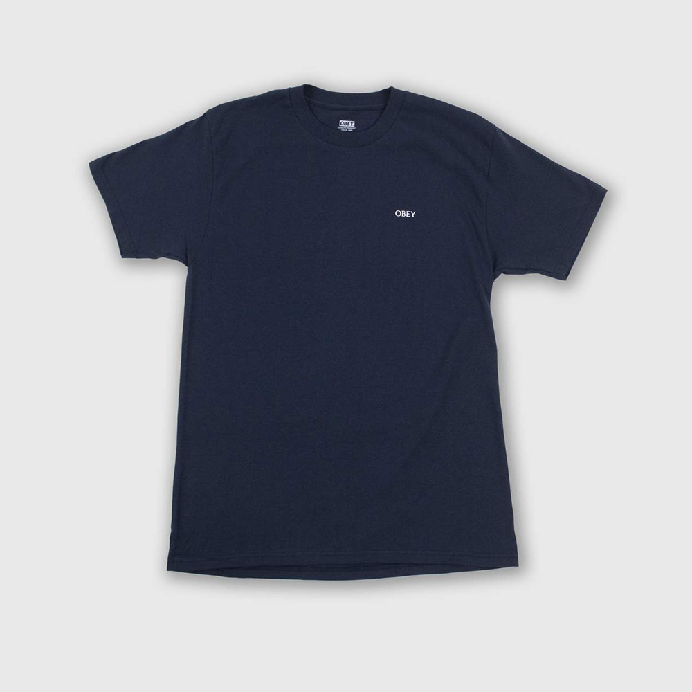 Obey T-Shirt Deco Flower -NAVY_2