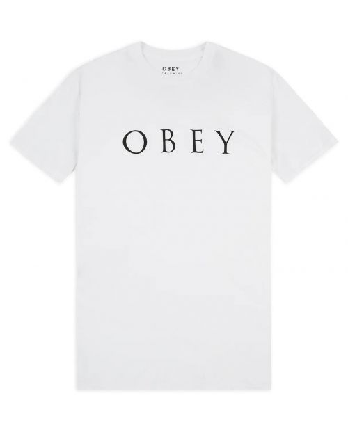 Obey T-Shirt Novel Classic White