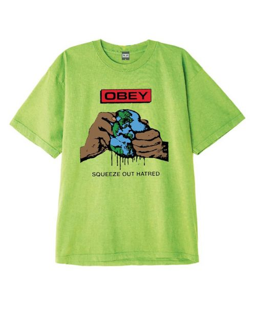 Obey T-Shirt Squeez Out Hatred - Bright Lime