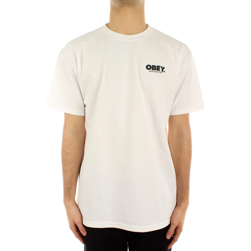 Obey T Shirt Visual Industries Classic White 1