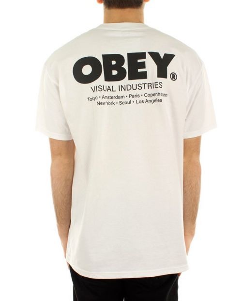 Obey T-Shirt Visual Industries Classic White