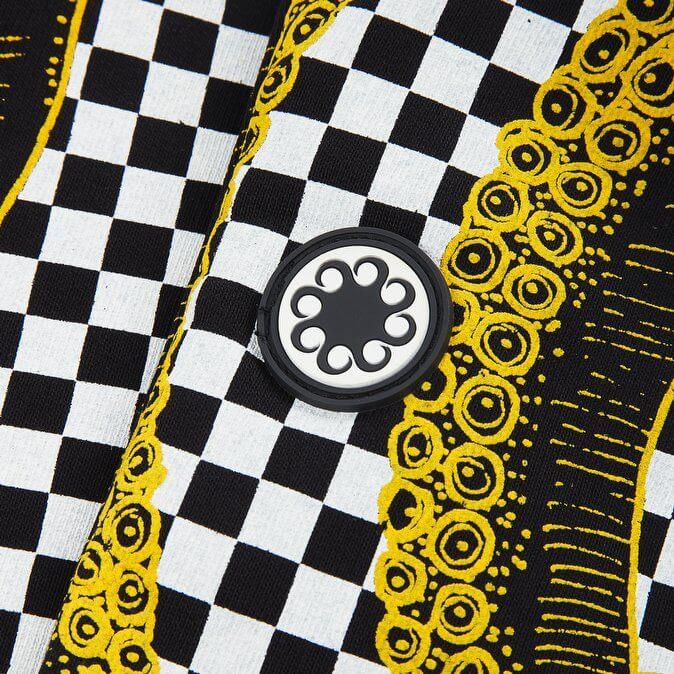 Octopus Pantaloni Checkered Sweatshorts YELLOW /BLK