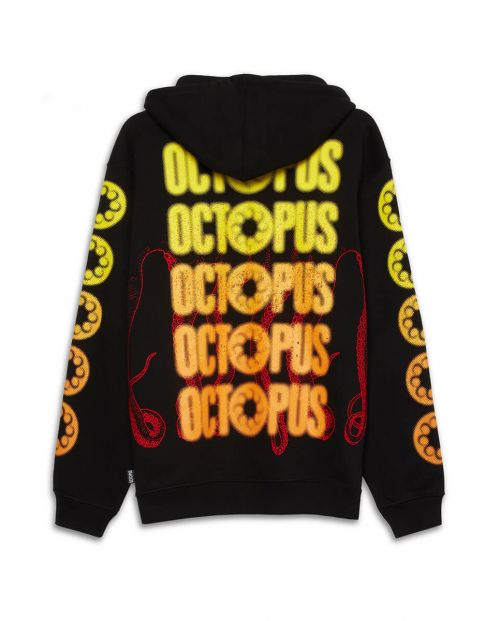 Octopus Felpa Blurred Black 21SOSH11_BLACK_1