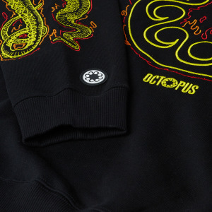 Octopus Felpa More Fire Logo Black 21SOSH12_BLACK_2
