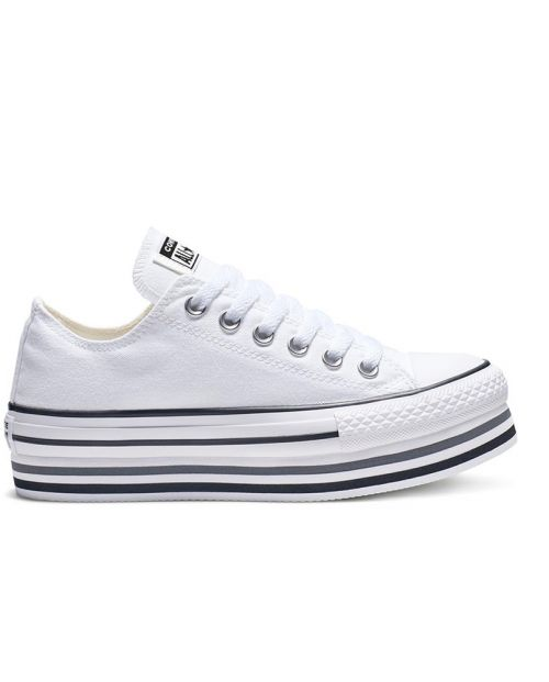 Scarpe Converse All Star Platform Layer OX White
