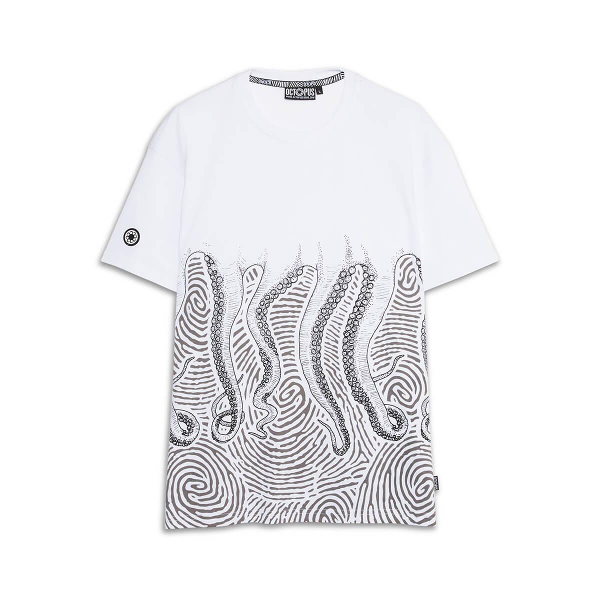 Octopus T-Shirt Fingerz White 21SOTS25_WHITE_1
