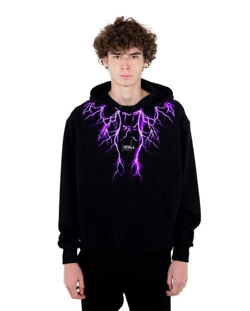 Phobia Felpa Black Purple Lightning