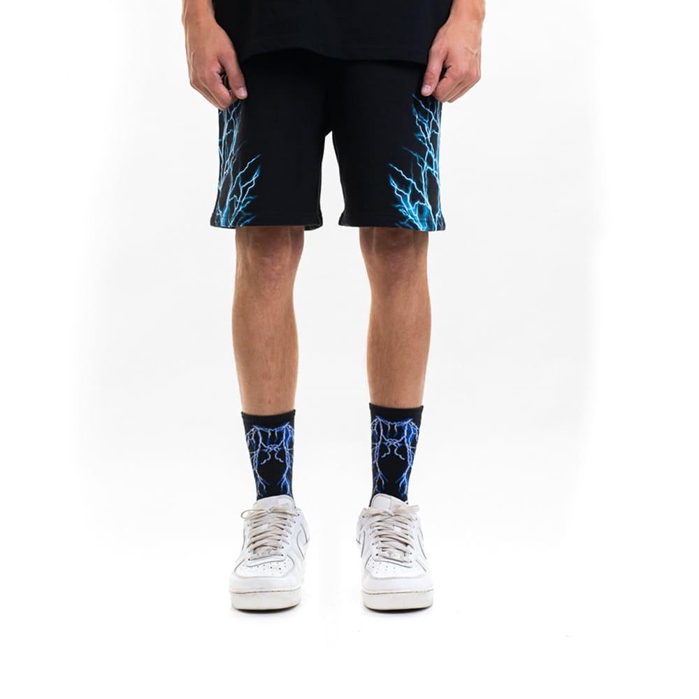 Phobia Pantaloni Corti Black Light Blue Lightning