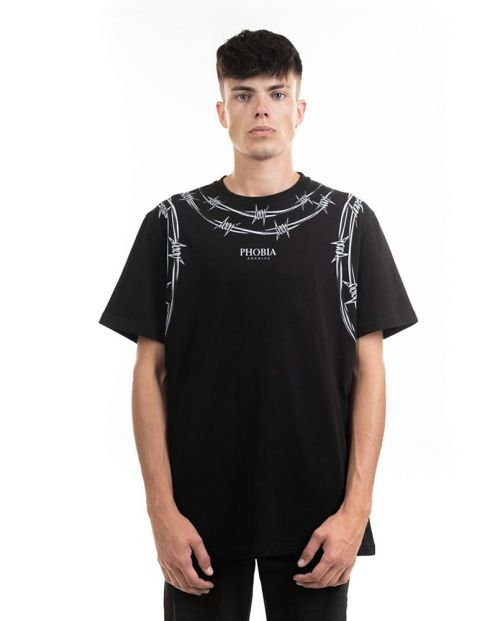 Phobia T-Shirt Black Barbed Wire