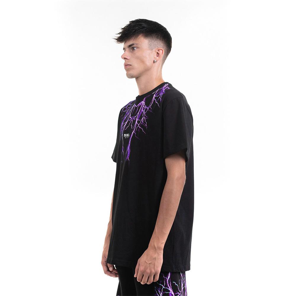 Phobia T-Shirt Black Purple Lightning