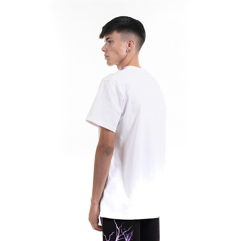 Phobia T-Shirt White Purple Lightning