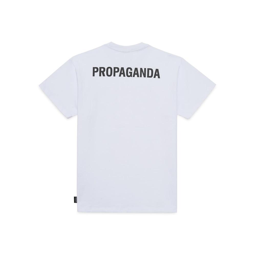Propaganda T Shirt Logo Bianco 2