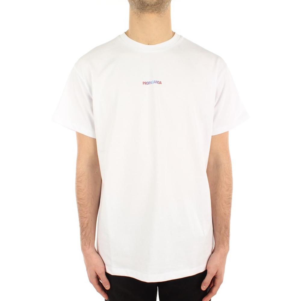 Propaganda T-Shirt Ribs Gradient Bianco