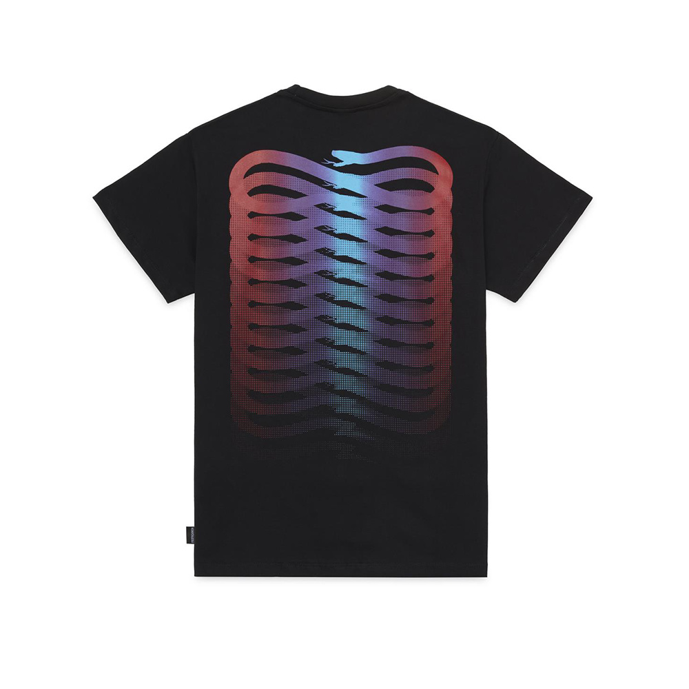 Propaganda T-Shirt Ribs Gradient Nero
