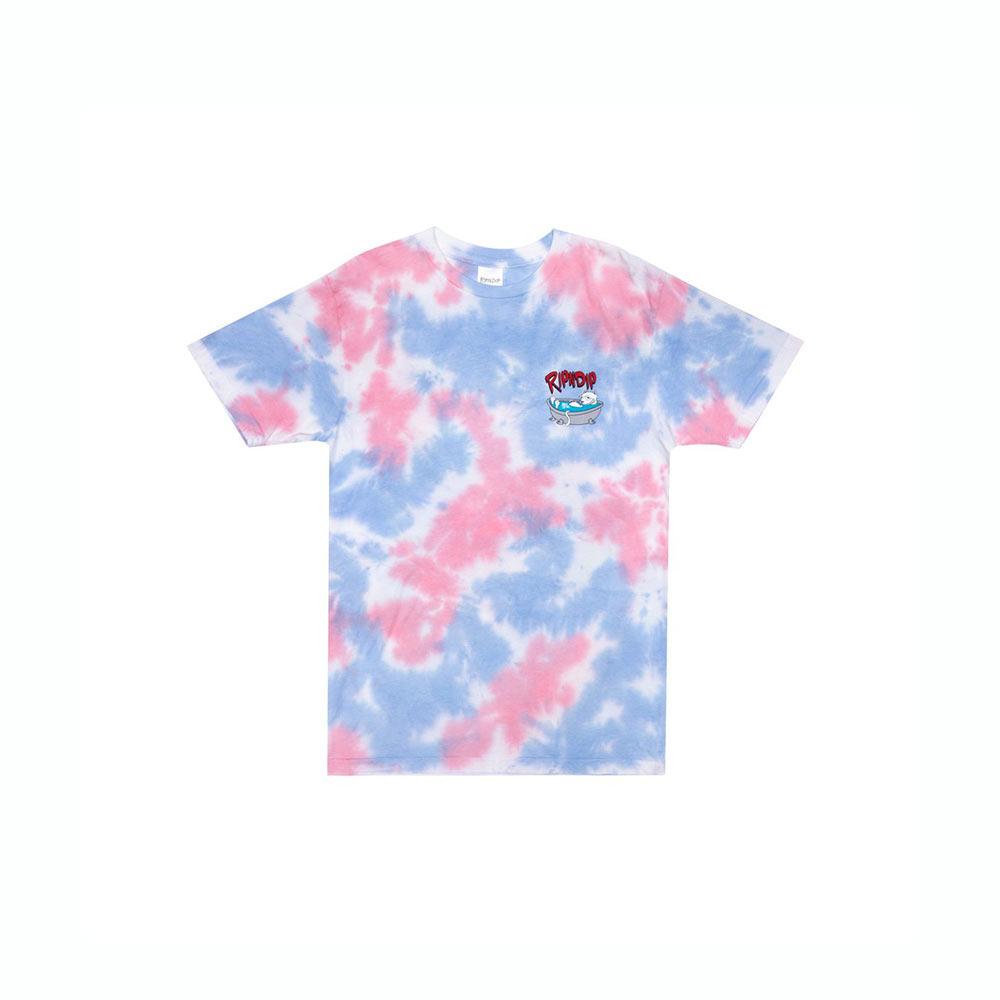 T-Shirt Ripndip Bath Time Tee Pink Tie Dye