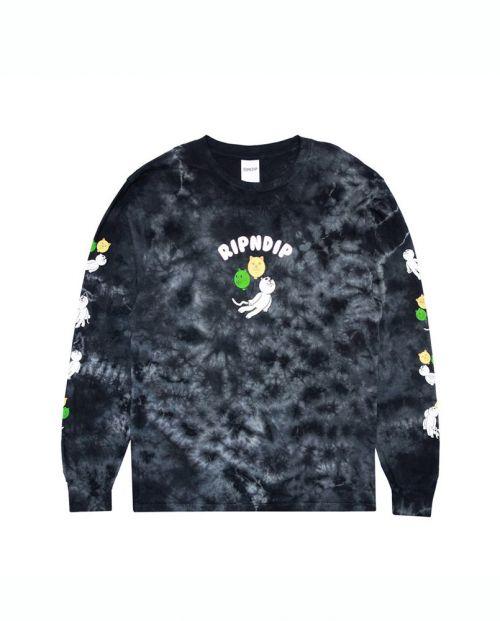 T-Shirt Ripndip Drifting Away LS Black Lightning Wash 1