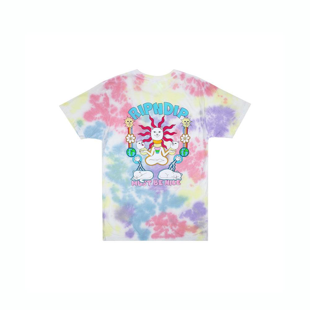 T-Shirt Ripndip Etheral Tee Peace : Lavender Tie Dye