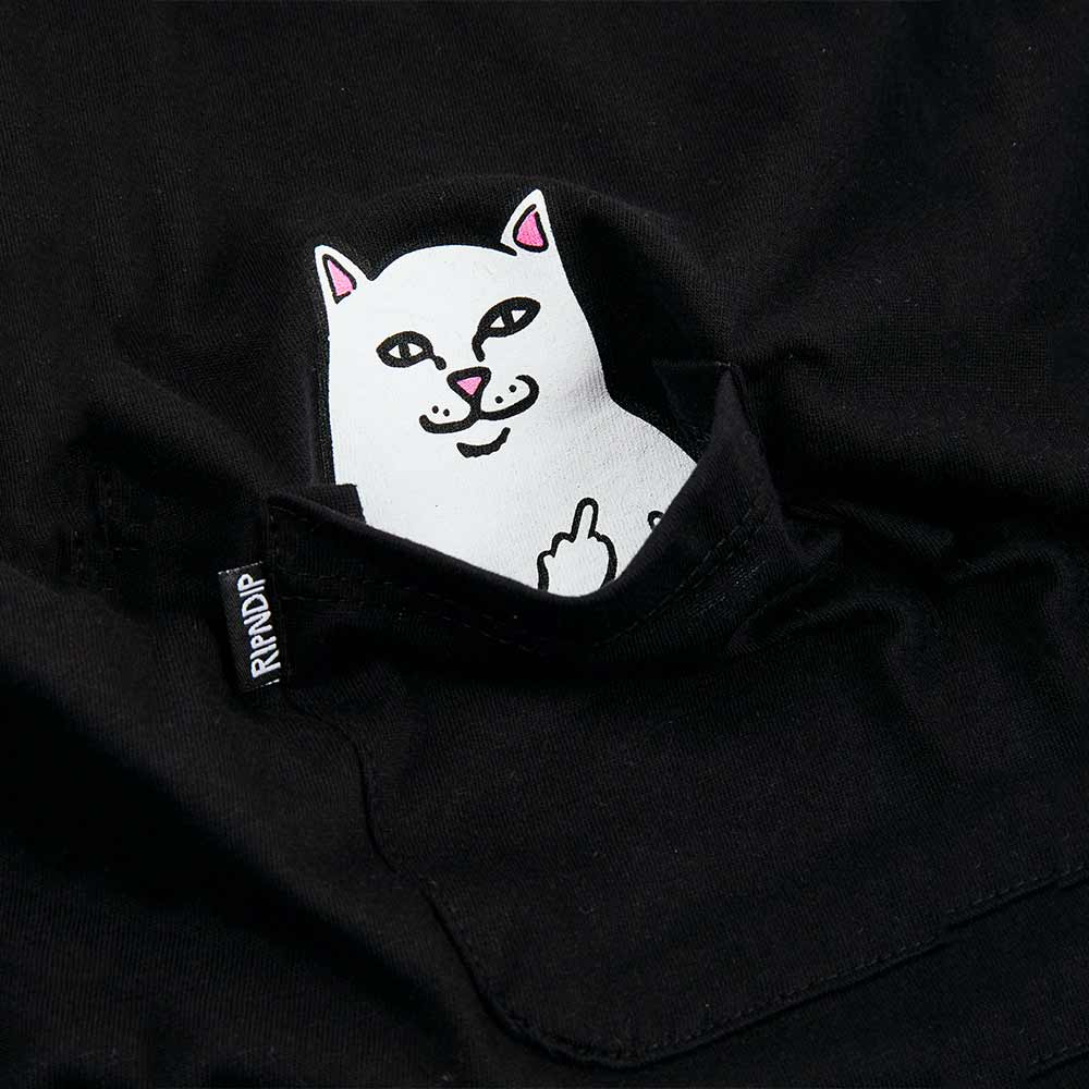 T-Shirt Ripndip Lord Nermal Pocket Black