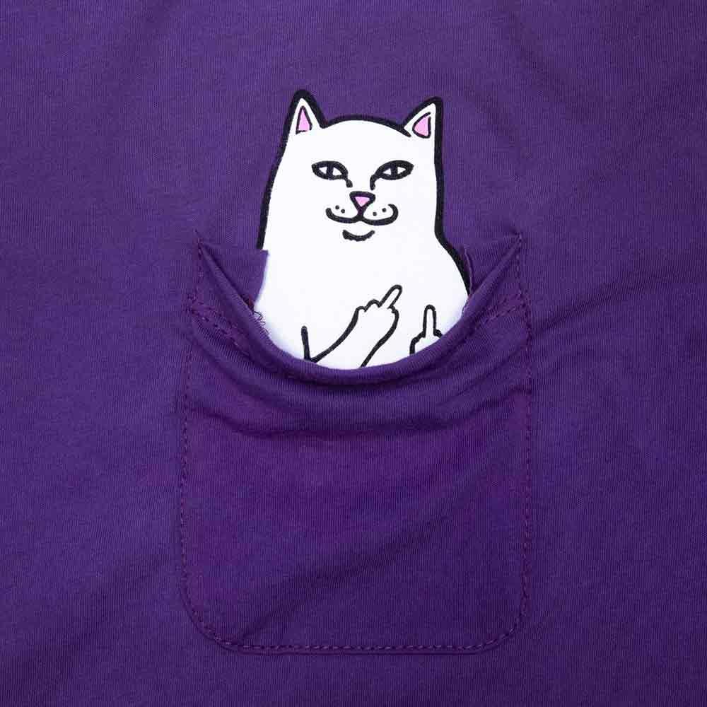 T Shirt Ripndip Lord Nermal Pocket Purple 1