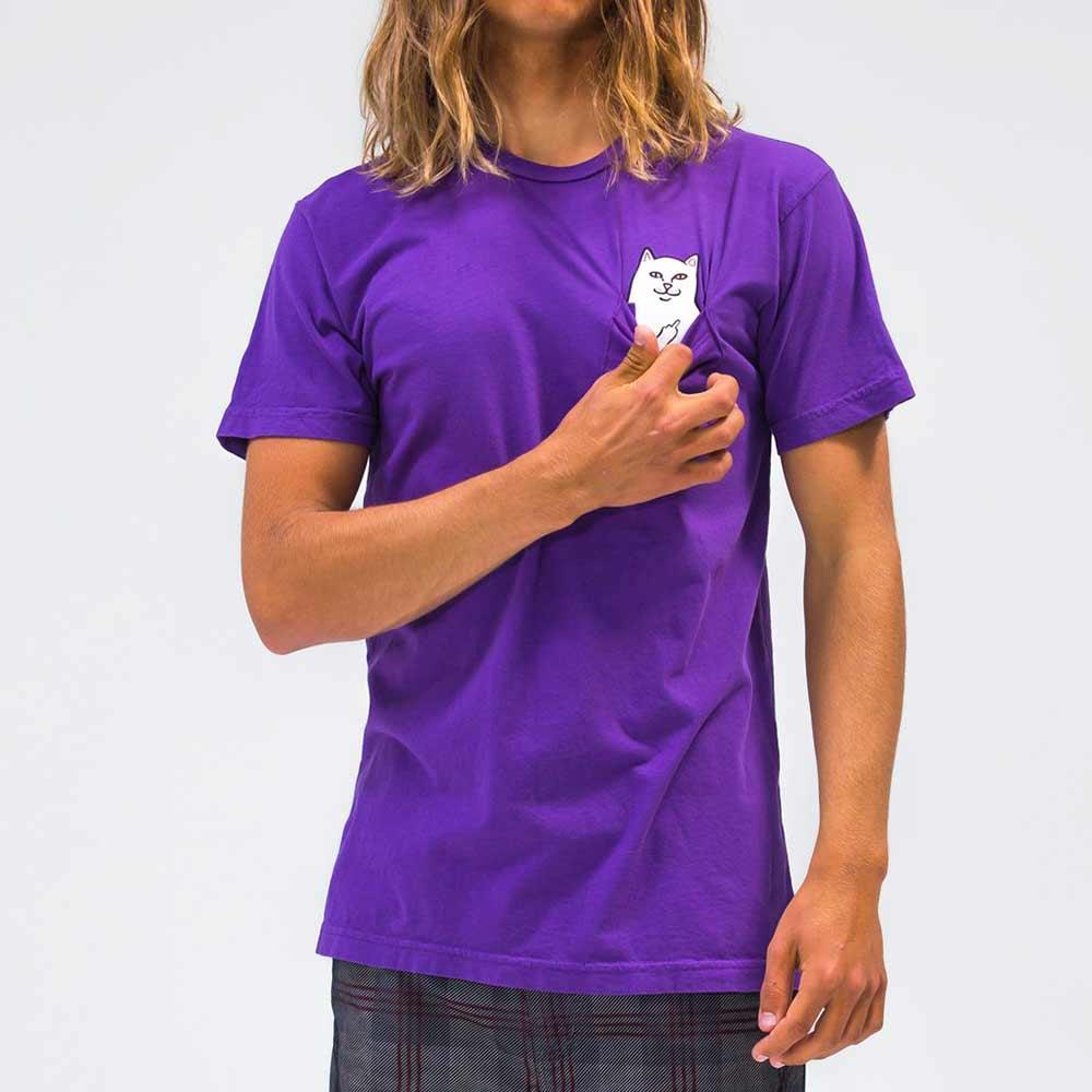 T Shirt Ripndip Lord Nermal Pocket Purple 2