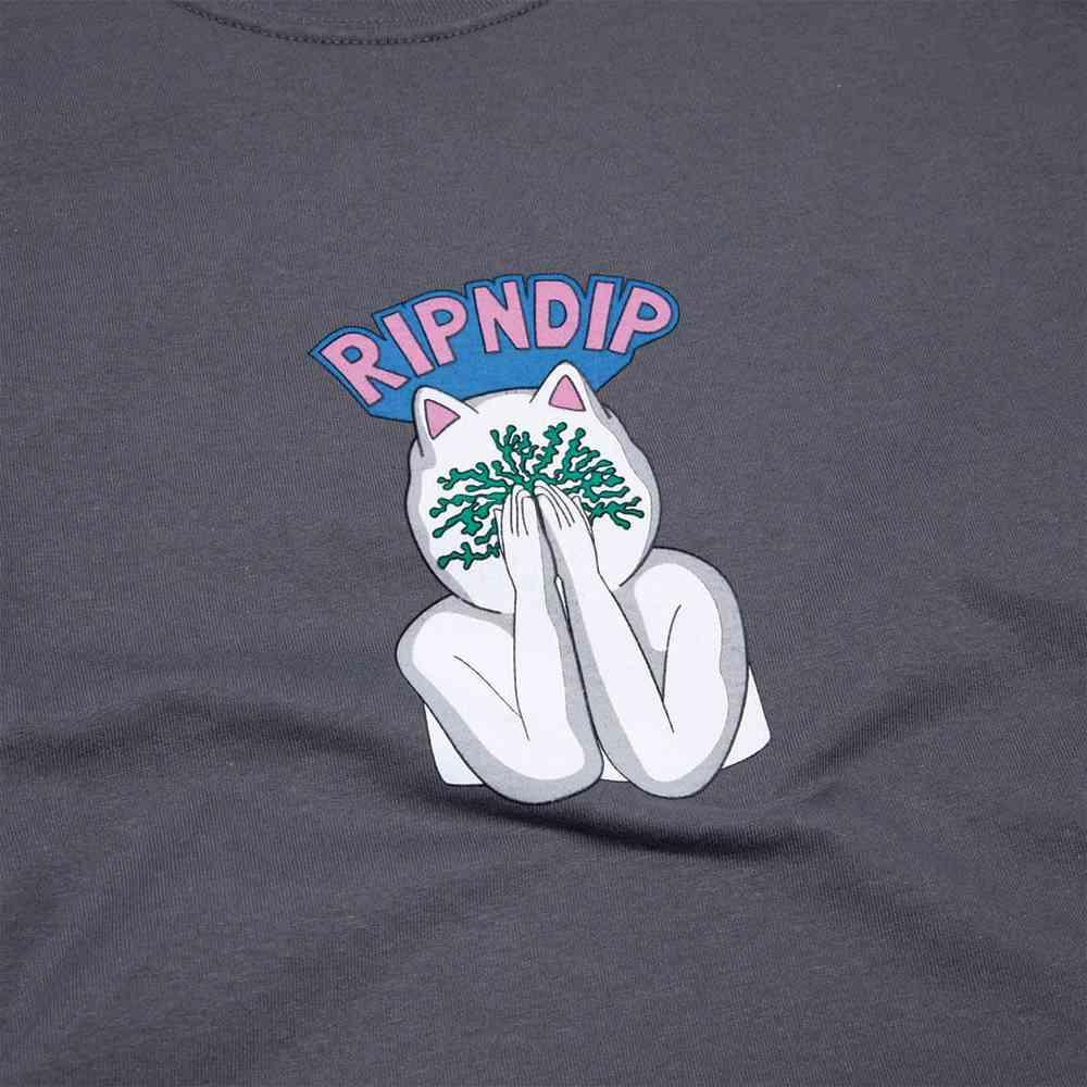 T-Shirt Ripndip Overthinking LS Charcoal