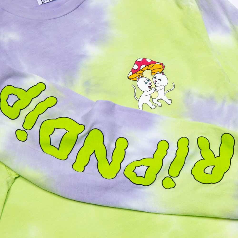 T-Shirt Ripndip Sharing Is Caring LS Neon : Lavender Dye