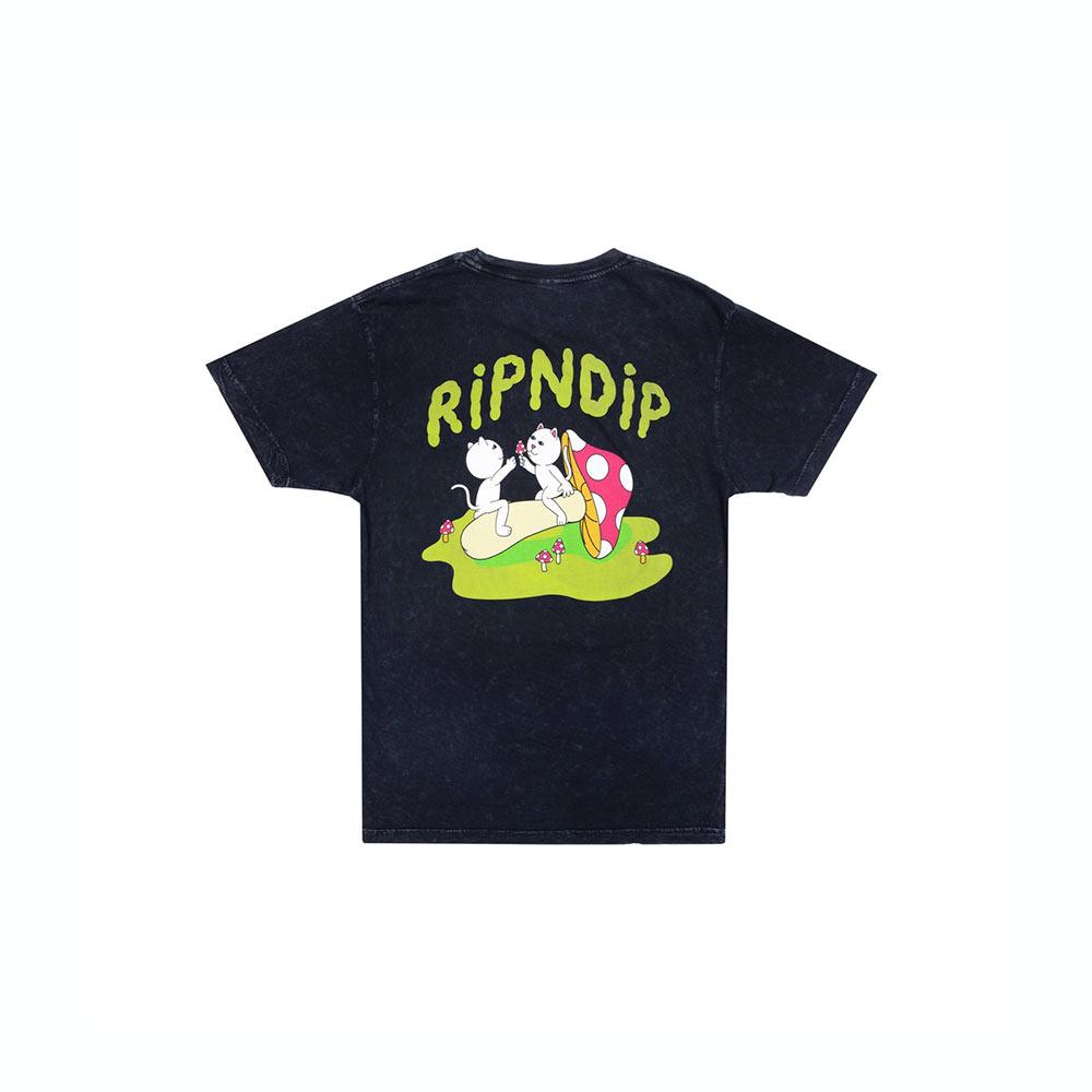 T-Shirt Ripndip Sharing Is Caring Black Mineral Wash